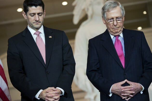 Once Again Speaker Ryan and Senate Leader McConnell Are Nowhere to be Found After Trump AND HIS FAMILY are Sued by DNC