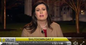 "Zing! Sarah Sanders to CBS: Democrats ""Care More About Keeping Our Borders Open than Keeping Our Government Open"" (VIDEO)"