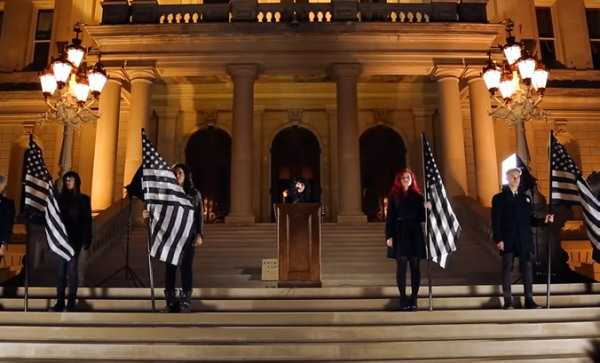 VIDEO=> Satanists Perform STATE SANCTIONED DEVIL WORSHIP On The Steps Of The Michigan Capitol