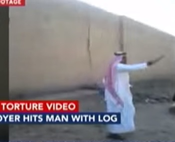 saudi log beating