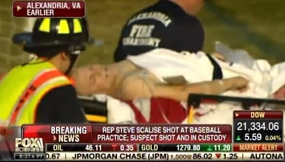 VIDEO: GOP Rep. Scalise Stripped and Rolled Off Baseball Field After Getting Shot