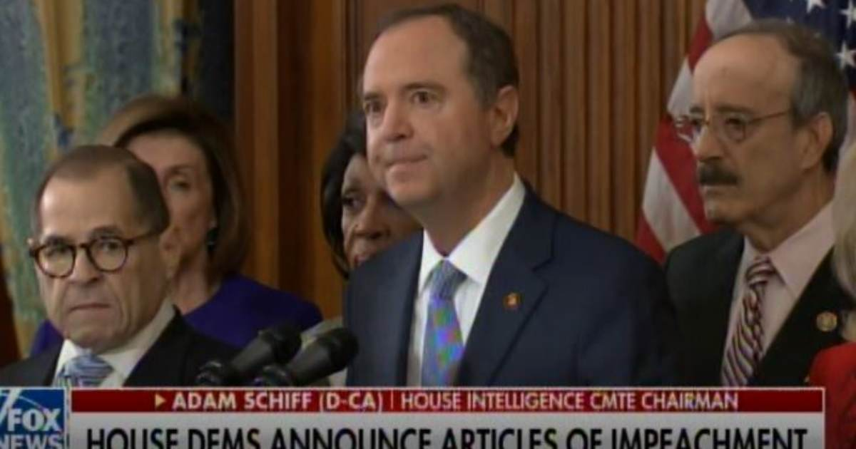 During Impeachment Announcement: Serial Liar Adam Schiff Accuses Trump of Cheating to Win 2016 Election -- A COMPLETE LIE! (VIDEO)