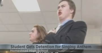 Sophomore Student Suspended for Singing the National Anthem – Admin Circles Cafeteria to Prevent More Singing (VIDEO)