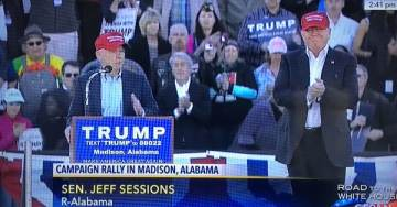 VIDEO=> Sen. Jeff Sessions Endorses Trump at Madison, Alabama Rally