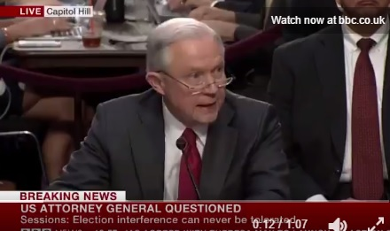 """AG Sessions: Any Assertion That I Colluded with Russia is """"Appalling and Detestable Lie"""" (VIDEO)"""