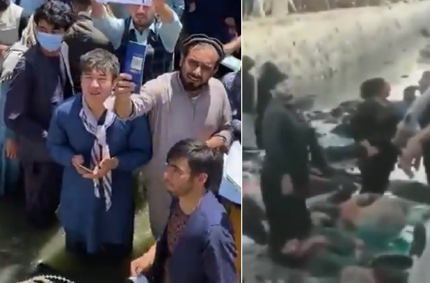 HORROR! Dead and Injured Lay in Swamp Outside Kabul Airport After Bombings — MASS CASUALTIES