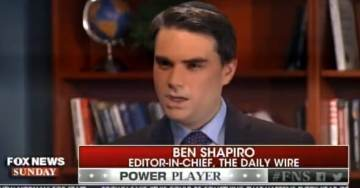 Ben Shapiro Highlighted on FOX News Sunday – Trashes Trump and Bannon (Video)