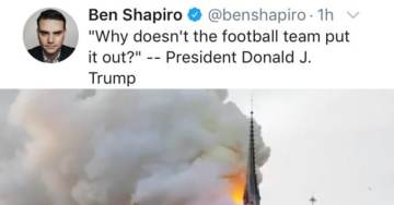 Just Awful! Ben Shapiro Mocks Catholics and Trump After Fire Destroys Notre Dame Cathedral in Paris