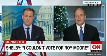 *Ugh* Alabama GOP Senator Joins with Democrats – Tells CNN He Did Not Vote for Roy Moore (VIDEO)