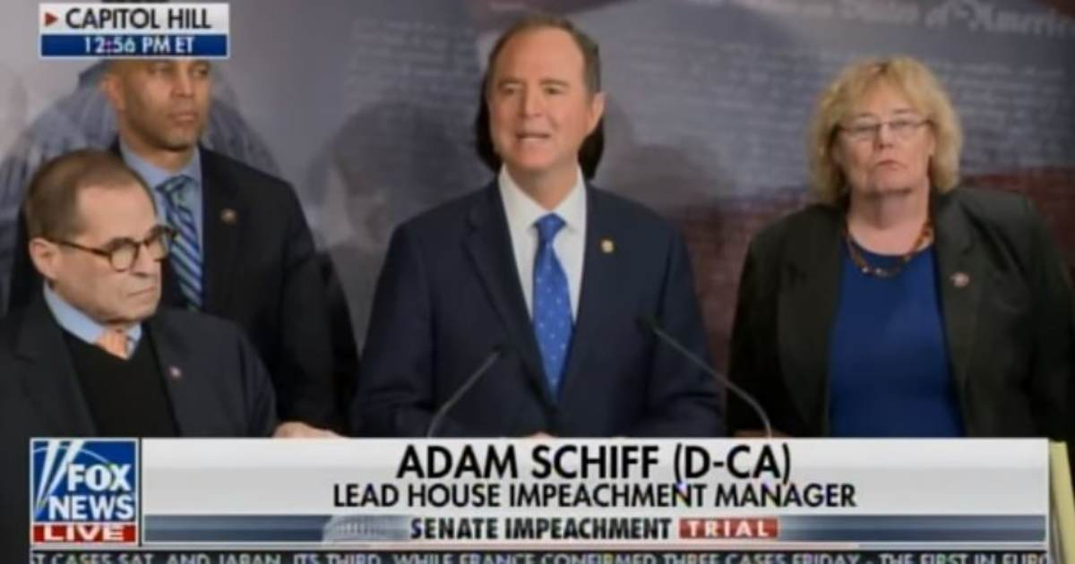 OMG! More Schiff -- Lead House Manager Goes Off on Crazed Putin-Russia Tantrum Following Trump Team Opening Arguments (VIDEO)
