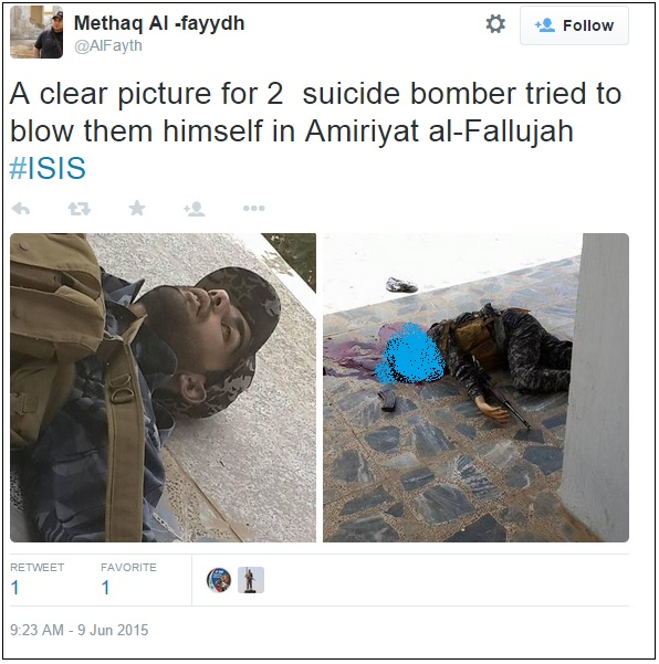 suicide bomber isis gunned down