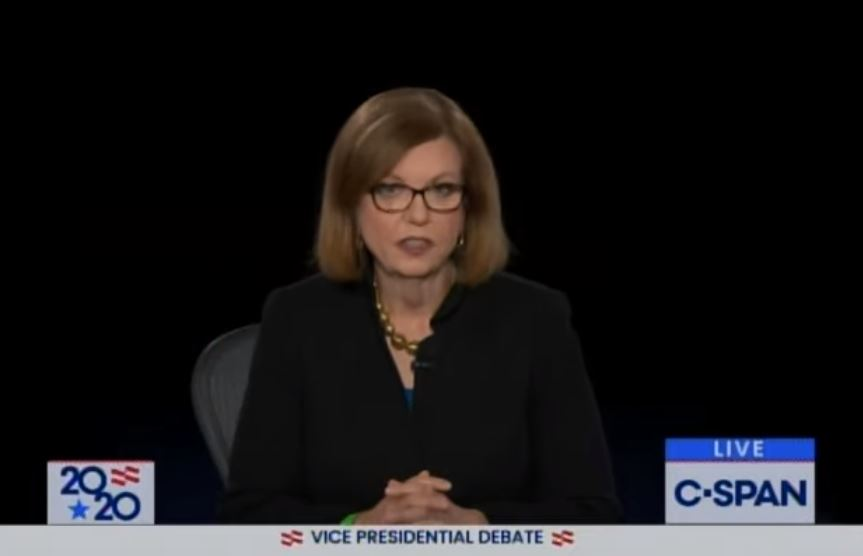 """Far Left """"Moderator"""" Susan Page Opens Up VP Debate with a Whopper: """"Coronavirus Not Under Control"""""""
