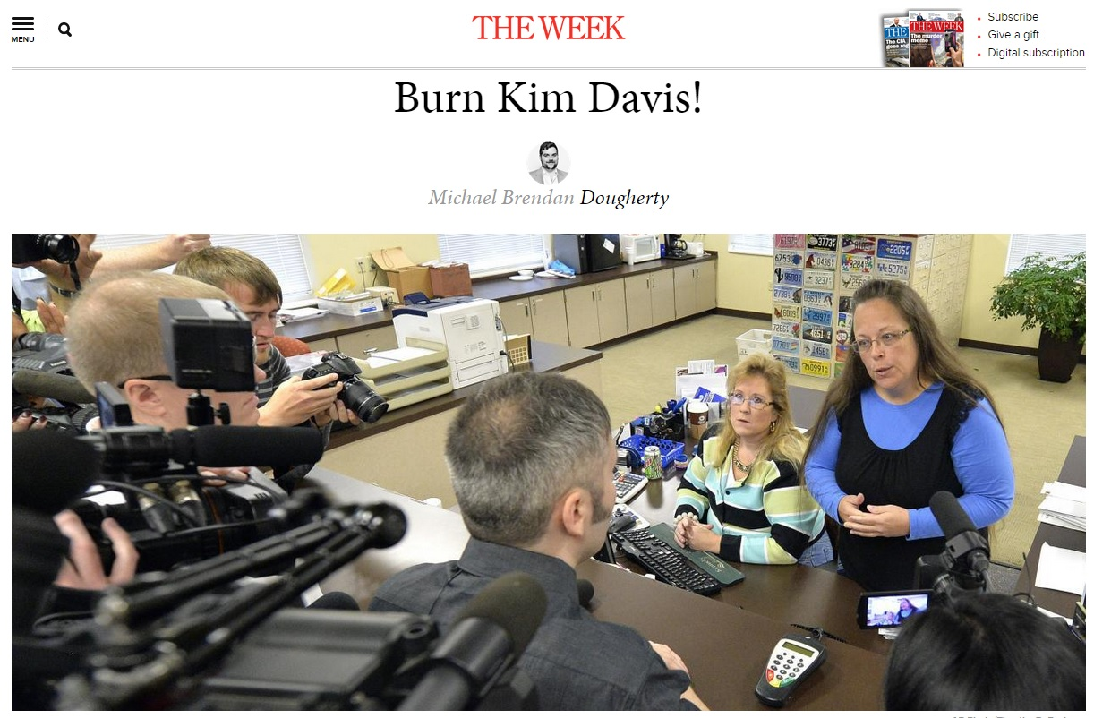 the week burn kim davis