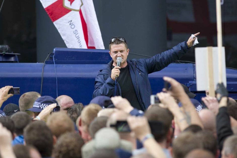 tommy robinson rally