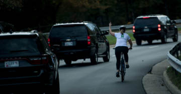 Cyclist Who Gave Trump Motorcade The Finger Wins Local Election, Gets CNN Coverage