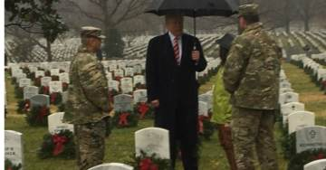 President Trump Makes Unannounced Trip to Arlington Cemetery on Wreaths Across America Day (VIDEO)