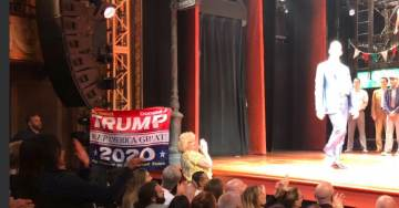 BRAVO! Trump Supporter Storms Stage at De Niro's Broadway Show — Unfurls MAGA 2020 Flag