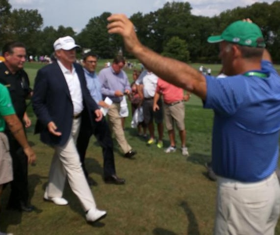 "Donald Trump at Barclays Tourney: Make Sure This Reporter Writes Well About Me ""Or Kick His Ass"" (VIDEO)"