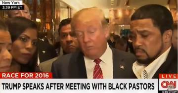 """VIDEO=> Black Pastors and Donald Trump Meet with Press After Historic Meeting """"Love in the Room"""""""