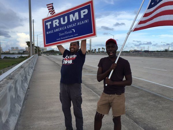 trump black support