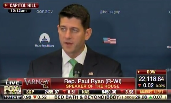 photo image Speaker Paul Ryan Says US House Will Vote to Fund Border Wall This Week (VIDEO)