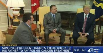 Ignored by Media=> Cancer Survivor Travels to White House to Thank President Trump for Saving His Life (Video)