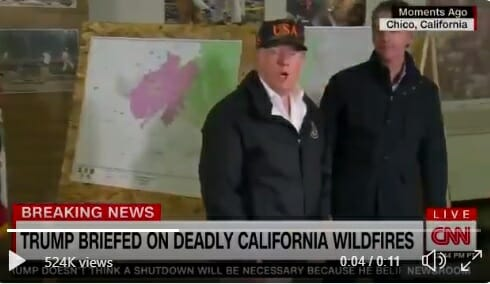 VIDEO: PRESIDENT TRUMP Asked About Climate Change After Inspecting Wildfire Zone – His Answer Was Not Expected