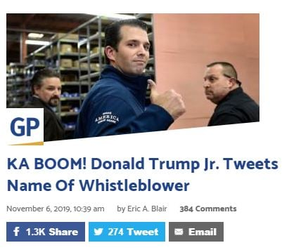 The name of the Whistleblower is Eric Ciaramella