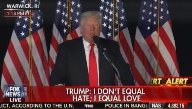 trump love not hate