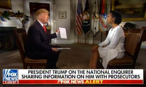 """BOOM! President Trump: """"I Don't Think We Made a Payment to That Tabloid"""" – National Enquirer (VIDEO)"""