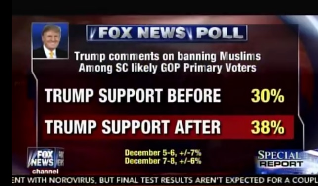 trump poll spike