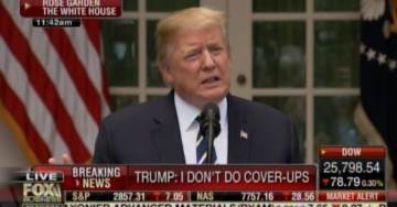 "President Trump Tells Reporters After Pelosi's Attacks and His Meeting with Her: ""I Don't Do Cover-Ups"" and ""You Ought to be Ashamed of Yourselves"" (VIDEO)"