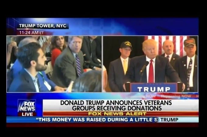 UNREAL! Liberal Media Hacks GANG UP ON TRUMP at Presser on Veterans Donations (VIDEO)