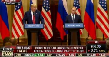 PUTIN DROPS BOMB AT HELSINKI PRESSER: Says US Intelligence Helped Move $400,000 to HILLARY Campaign!! (VIDEO)