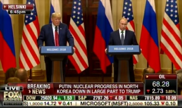 PUTIN DROPS BOMB AT HELSINKI PRESSER: Says US Intelligence Helped Move $400,000,000 to HILLARY Campaign!! (VIDEO)