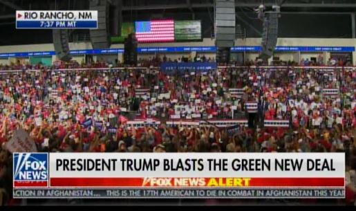 AMAZING! Another MASSIVE RALLY -- MILE-LONG Line of Traffic Formed AT 6:00 AM to See President Trump in Rio Rancho, New Mexico