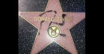 Donald Trump's Star on Hollywood Walk of Fame Vandalized with Swastika