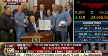 EPIC! Steelworkers Thank President Trump at White House Announcement on Steel and Aluminum Tariffs (VIDEO)
