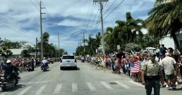 AMAZING! Trump Supporters Line Streets of Key West for Miles to Welcome President Trump (VIDEO)