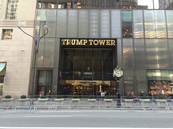 trump tower barricades