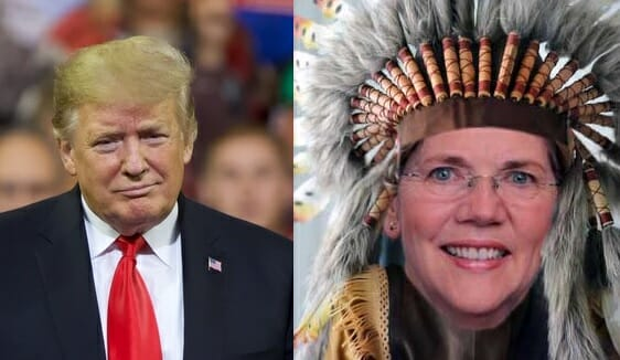 photo image President Trump Trolls Fake Indian Elizabeth Warren Hours After She Formally Announces 2020 Presidential Bid
