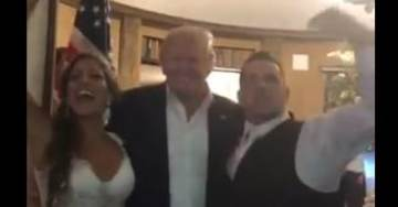 "AMAZING! President Trump Crashes Wedding Party at Bedminster – Crowd Chants, ""USA! USA! USA!…"" (Video)"