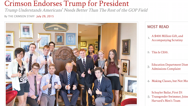 trump with liars and fraudsters harvard