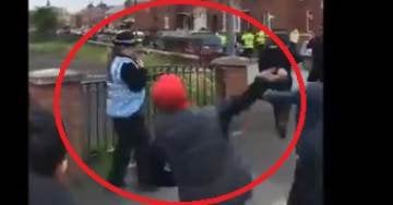 THEY WANT HIM DEAD: UK Police Stand and Watch as Leftists and Muslims Hurl Rocks and Eggs at Tommy Robinson Rally (VIDEO)