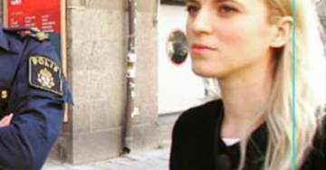 VIDEO=> Swedish Female Journalist STONED by Muslims In Stockholm