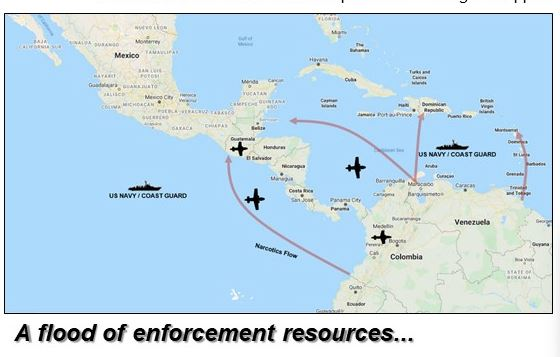 US Sends Military Ships to Caribbean Sea to Disrupt Drug Cartels and Cut Off Socialist Maduro Regime Transfers of Illegal Drugs