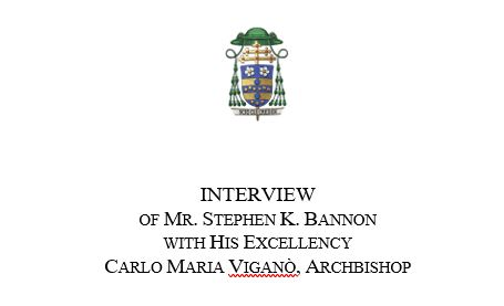 """Archbishop Carlo Maria Vigano - """"It Would Be an Irreparable Disaster if Joe Biden – Were Designated President of the United States"""" Vigano-bannon"""