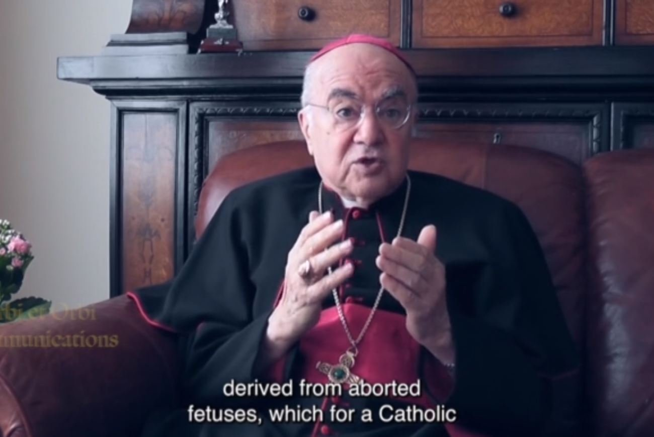 """Archbishop Vigano: """"Vaccine Victims are Sacrificed at the Altar of Moloch"""" (VIDEO)"""