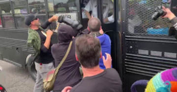 Violent Antifa Terrorists Attack Buses, Throw Rocks, Debris and Claw Hammer At Patriots Following Portland Protests