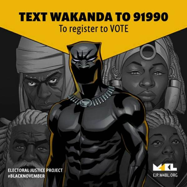 "Radical Black Activist Group That Demands Reparations and 'Economic Justice' Launches Voter Registration Outside ""Black Panther"" Movie"